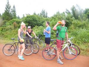 Overland bike tour Uganda